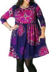 Robe courte Violette Grande taille Originale et Fantaisie Grenade 286701