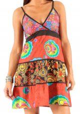 Robe d'été à bretelles ajustables Ethnique et Colorée Malda 283595