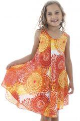 Robe d'été à bretelles pour enfant Marie-Laure Ethnique et Colorée 295803