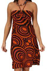 Robe d'été à bretelles Tendance et Originale Orange Lalima 285859