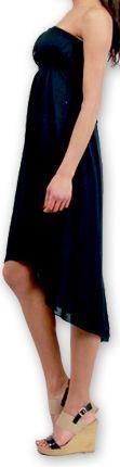Robe d'été à bustier Elegante Originale et Chic Donna Noire 277016