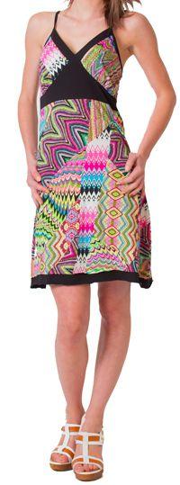 Robe d'été à fines bretelles Ethnique et Colorée Clarisa Rose 276890
