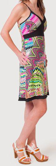 Robe d'été à fines bretelles Ethnique et Colorée Clarisa Rose 276891