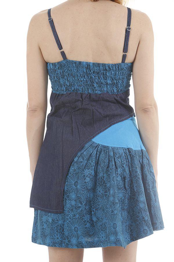 Robe d'été à fines bretelles ethnique et colorée Florana 311861