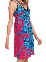 Robe d'été à Fines bretelles Fantaisie et Colorée Cécile Rose 281339