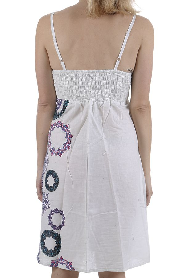 Robe d'été à fines bretelles fraîche et imprimée Noémie 311323