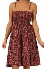 Robe d'été à fines bretelles Rouge Tendance et Originale Anama 285869