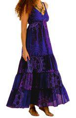 Robe d'été à l'esprit Bohème et Colorée Bleue Esmeralda 284125