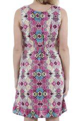 Robe d'été à larges bretelles imprimée et colorée Baptista 310419