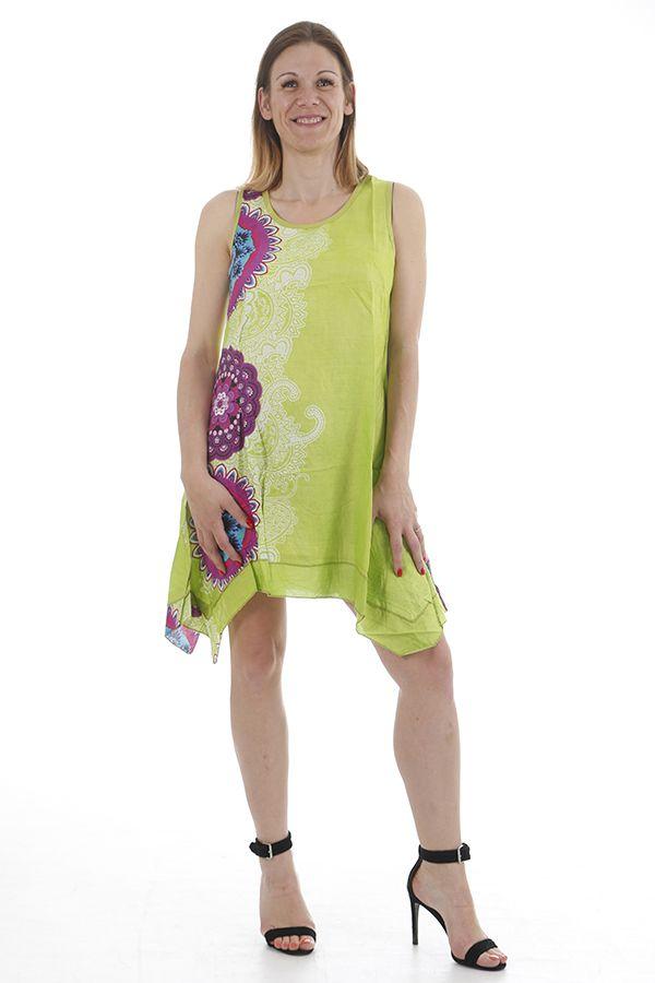 Robe d'été à larges bretelles légère et imprimée mandalas Nuo 311719