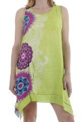 Robe d'été à larges bretelles légère et imprimée mandalas Nuo 311720