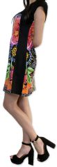 Robe d'été à manches courtes Originale et Colorée Cindie Noire 276871