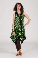 robe d'été asymétrique col V originale ethnique Caprie 288237