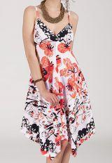 Robe d'été Asymétrique et Originale ASSIA Blanche imprimée RM340 284123