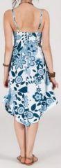 Robe d'été Asymétrique et Originale Assia Bleue et Blanche RM349 272985