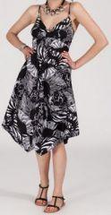 Robe d'été Asymétrique et Originale Assia Noire et Blanche RM350 272982