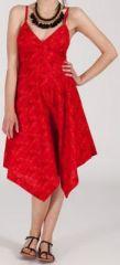 Robe d'été Asymétrique et Originale ASSIA Rouge RM342 272999
