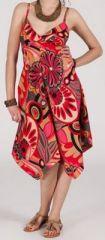 Robe d'été Asymétrique et Originale ASSIA tons Rose RM346 272990