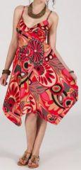 Robe d'été Asymétrique et Originale ASSIA tons Rose RM346 272991