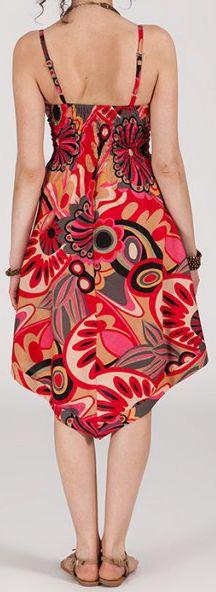 Robe d'été Asymétrique et Originale ASSIA tons Rose RM346 272992