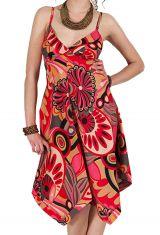 Robe d'été Asymétrique et Originale ASSIA tons Rose RM346 284124