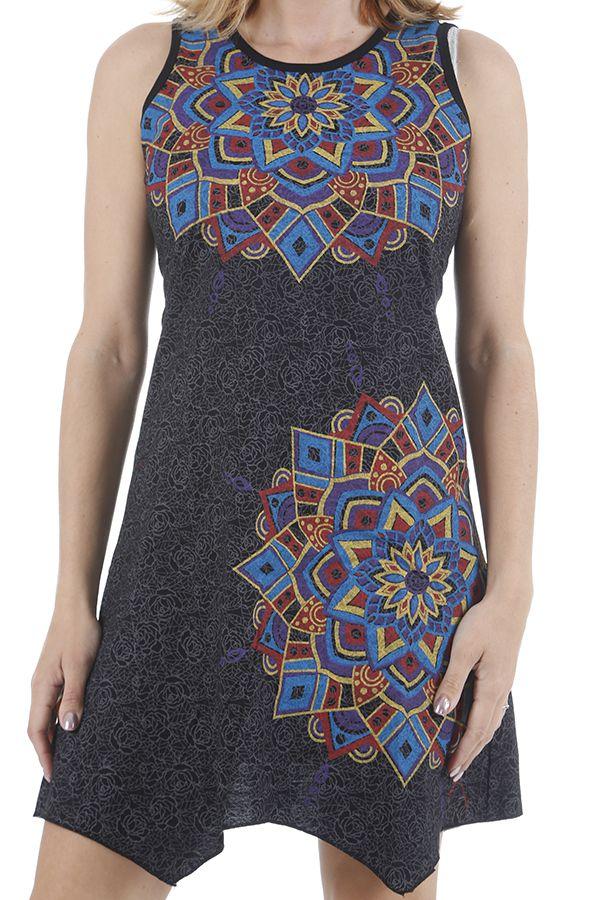Robe d'été asymétrique ethnique et originale Noella 310892