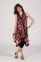 robe d'été asymétrique originale motif ethnique Cassandra 288234