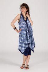robe d'été asymétrique sans manche originale ethnique Adelaide 288245