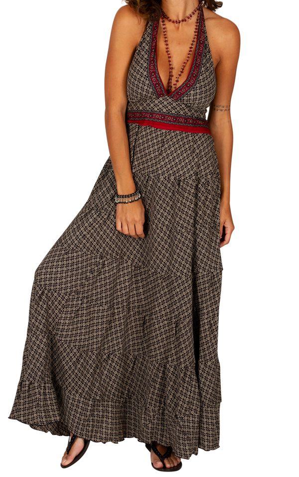 Robe d'été au dos nu pour femme ethnique et gaie Mailly 310313