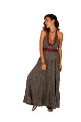 Robe d'été au dos nu pour femme ethnique et gaie Mailly 310314