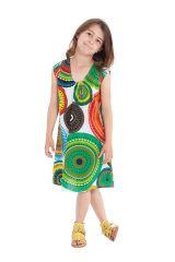 Robe d'été Blanche et Multi pour enfant Prissy Originale et Colorée 279893