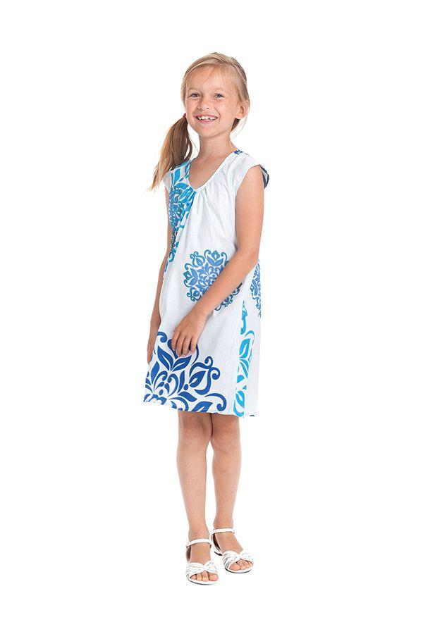 Robe d'été Blanche pour enfant Prissy Originale et Colorée 279891