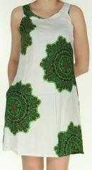 Robe d'été Blanche sans manches Originale et Colorée Aude 282510