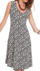 Robe d'été Blanche sans manches Originale et Colorée Candice 282127