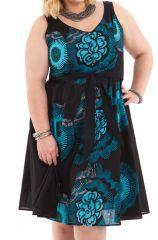 Robe d'été Bleue Ethnique et Idéale Cérémonie Grande Taille Suzette 284340