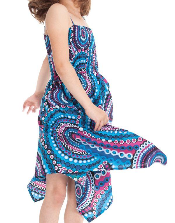 Robe d'été Bleue pour Fille Originale et Asymétrique Pégase 280464