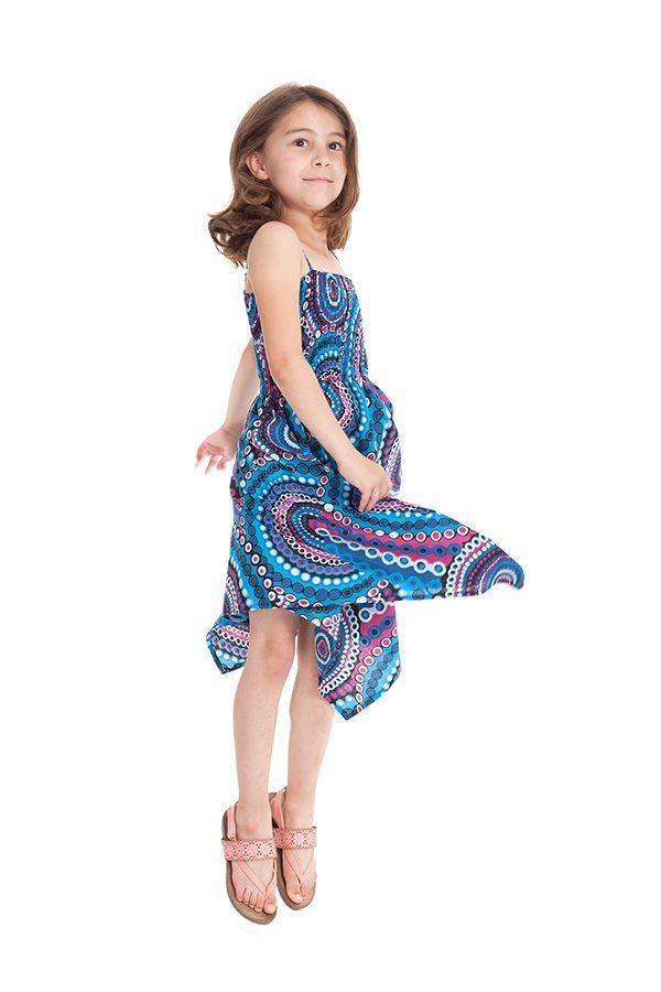 robe d ete bleue pour fille originale et asymetrique pegase. Black Bedroom Furniture Sets. Home Design Ideas