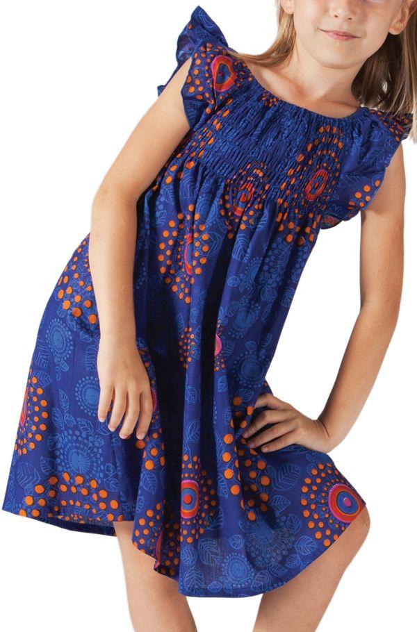 Robe d'été colorée et ethnique pour enfant bleue roi Nash 279867