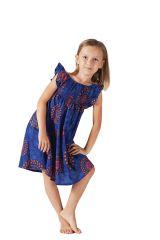 Robe d'été colorée et ethnique pour enfant bleue roi Nash 279868