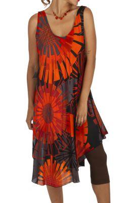 Robe d'été colorée idéale comme tenue à la plage Mayotte 316997