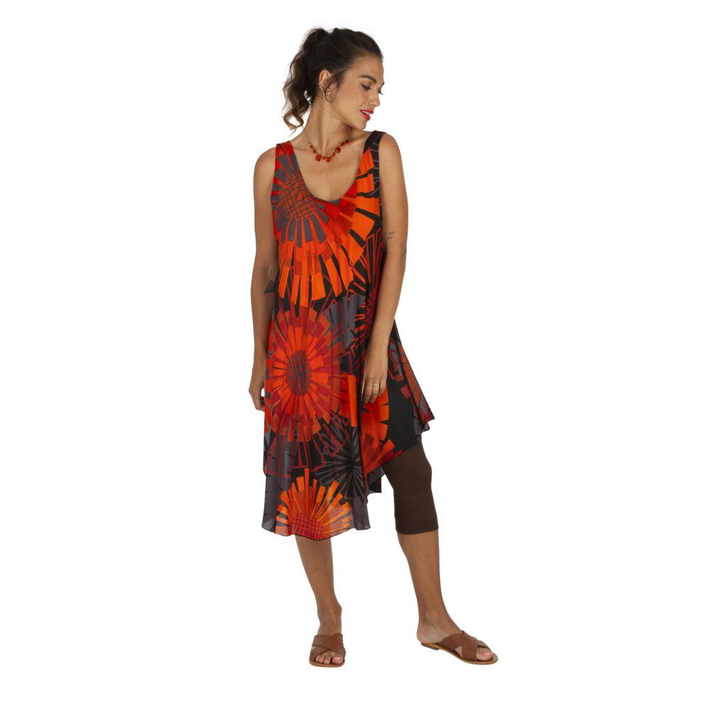 Robe d'été colorée idéale comme tenue à la plage Mayotte 316998