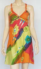 Robe d'été colorée pas cher à bretelles originales Merlo 302416