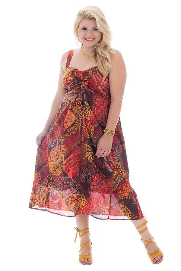 Robe d'été colorée plissée à la poitrine et smockée dans le dos Jolly 290385