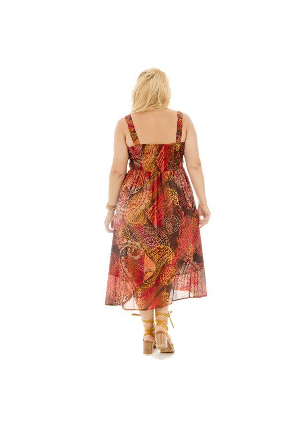 Robe d'été colorée plissée à la poitrine et smockée dans le dos Jolly 290386