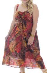 Robe d'été colorée plissée à la poitrine et smockée dans le dos Jolly 291954