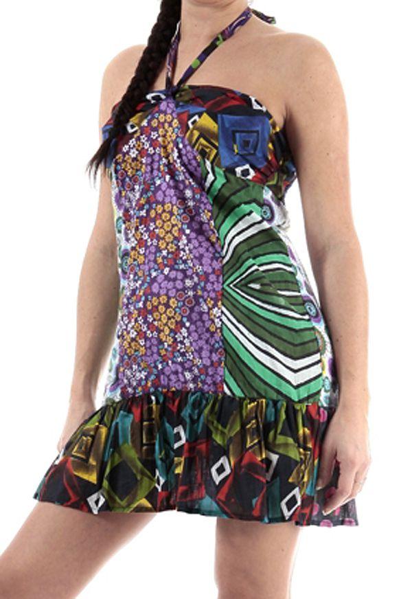 Robe D Ete Courte A Dos Nu En Coton Ethnique Et Originale Lalima
