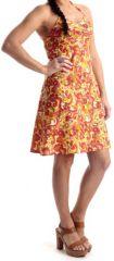 Robe d'été courte à dos nu Originale et Colorée Obidos Orange 280354