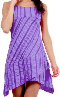 Robe d'été courte Ethnique et Asymétrique Ibizza Violette 277039