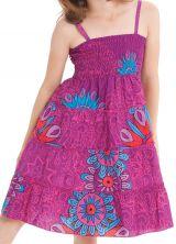 Robe d'été courte Fuchsia Originale et Colorée Pétunia 280482