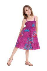 Robe d'été courte Fuchsia Originale et Colorée Pétunia 280483